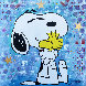 Snoopy 2020 36x36 Original Painting by  Jozza - 1