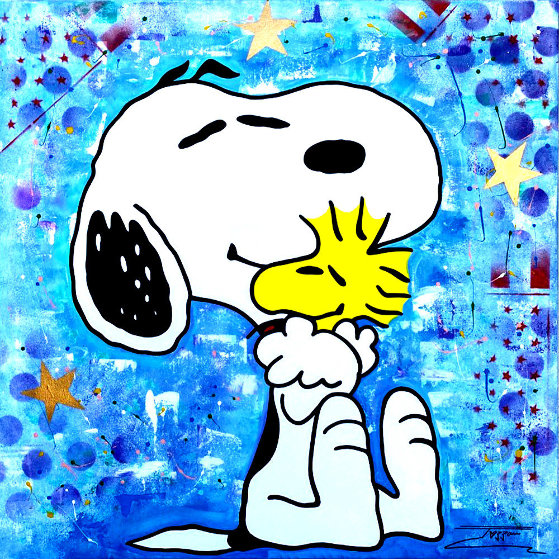 Snoopy 2020 36x36 Original Painting by  Jozza