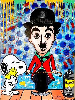 Chaplin Cartoon 48x36 Original Painting -  Jozza
