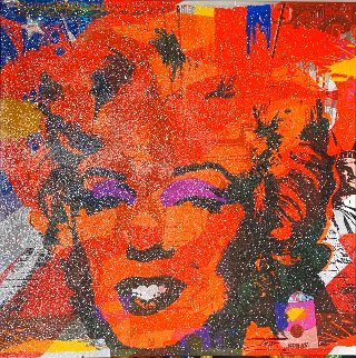 Marilyn Flag With Diamond Dust 2020 40x40 Original Painting -  Jozza
