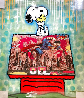 Snoopy and Woodstock 2018 40x36 Super Huge Original Painting -  Jozza