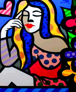 Thinking in Love 40x30 Original Painting -  Jozza
