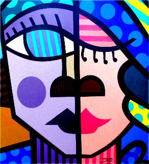 Kiss 32x32 Original Painting -  Jozza