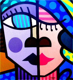 Kiss 32x32 Original Painting -  Jozza