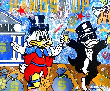 Hands Up 2020 40x48 Huge Original Painting -  Jozza