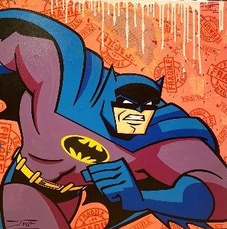 Batman E. Eggs Breakdown 2021 36x36 Original Painting -  Jozza