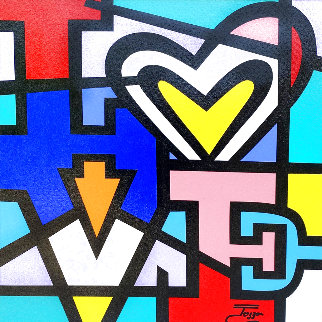 Love With Heart 25x25 Original Painting -  Jozza