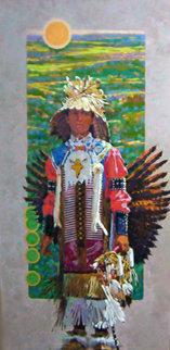 Eagle Heart 1999 58x34 Original Painting - Joseph  Schumacher