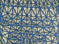 Sagging Grid Linocut 2006 Super Huge  Limited Edition Print by James Siena - 2