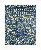 Sagging Grid Linocut 2006 Super Huge  Limited Edition Print by James Siena - 1