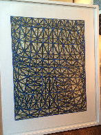 Sagging Grid Linocut 2006 Super Huge  Limited Edition Print by James Siena - 3