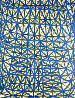 Sagging Grid Linocut 2006 Super Huge  Limited Edition Print - James Siena