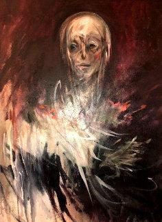 Untitled Painting 54x40 Original Painting - Judith Mason
