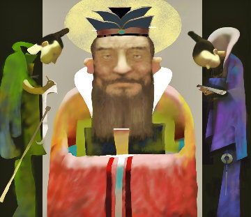Confucius And His Disciples 2006 Limited Edition Print - Ju Hong Chen