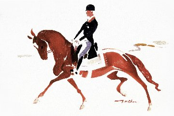 Dressage I 2014 24x36 Original Painting - Ju Hong Chen