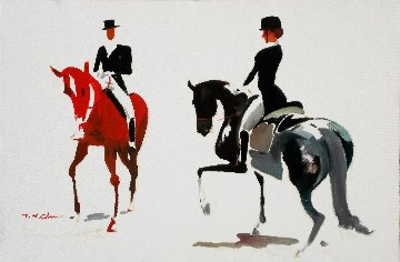 Dressage #2 24x36 Original Painting - Ju Hong Chen
