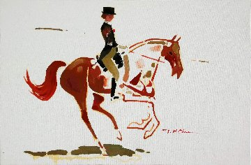 Dressage #3 2014 24x36 Original Painting - Ju Hong Chen
