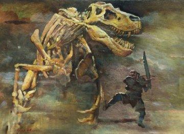 Dragon Slayer 2010 10x14 Original Painting by Ju Hong Chen