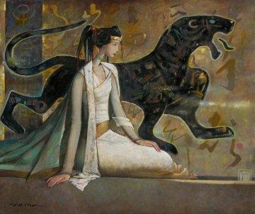 Tiger Maiden 2009 40x48 Original Painting by Ju Hong Chen