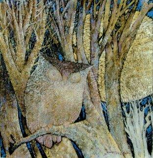 Moon Shining 26x26 Original Painting by Ju Hong Chen