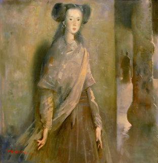A Date After Dusk 2006 40x40 Original Painting by Ju Hong Chen
