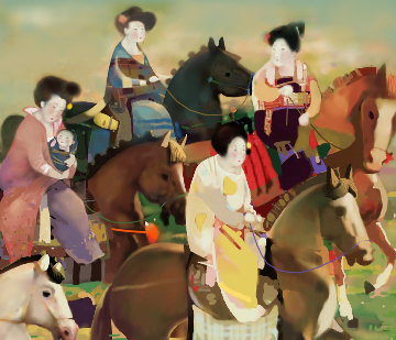 Spring Outing 2006 Limited Edition Print by Ju Hong Chen