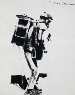 One Man Band Drawing 1994 31x24  Drawing by Ju Hong Chen