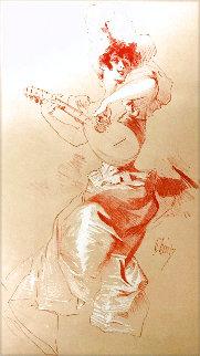 Untitled (Woman Playing Mandolin) 1898 Limited Edition Print - Jules Cheret