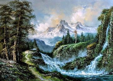 Untitled Painting 36x48 Super Huge Original Painting - Javier Julio