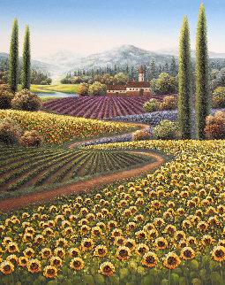 Awakening of Spring 2013 49x37 Super Huge  Original Painting - Mario Jung