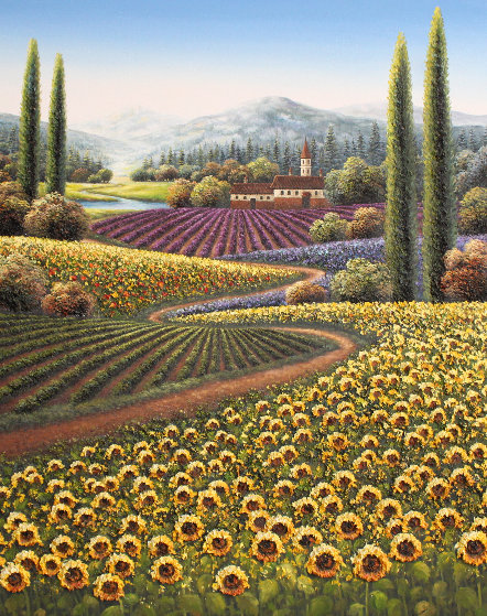 An Awakening of Spring 2013 49x37 Original Painting by Mario Jung