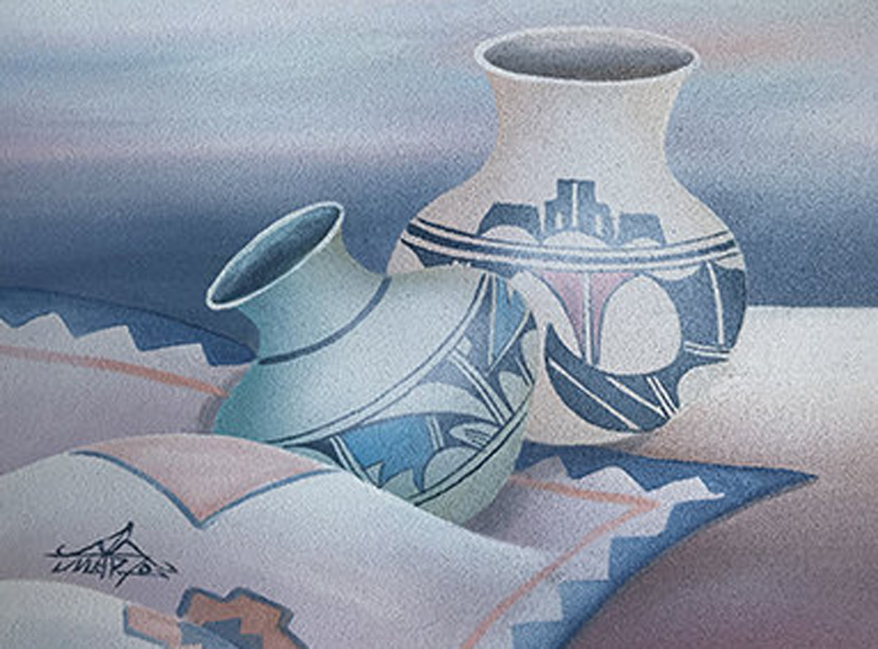 Untitled (Pottery) 14x18 Original Painting by Mario Jung