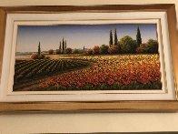 Untitled Landscape 2008 28x61 Super Huge Original Painting by Mario Jung - 1