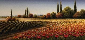 Untitled Landscape 2008 28x61  Super Huge Original Painting - Mario Jung