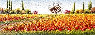 Untitled (Field of Flowers) 2010  12x36 Original Painting by Mario Jung - 0