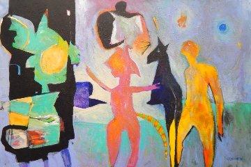 Blue Moon Rising 2018 40x60 Huge Original Painting - Peter Juvonen
