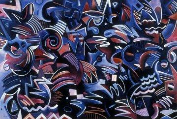 Open Window 1966 51x75 Super Huge  Original Painting - Peter Juvonen