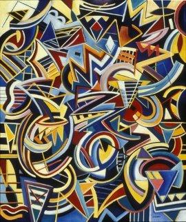 Meridian Lines 40x34 Original Painting - Peter Juvonen