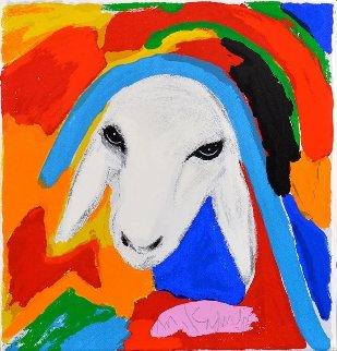 Sheep 2015 Limited Edition Print - Menashe Kadishman