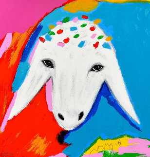 Sheep V 2015 Limited Edition Print - Menashe Kadishman