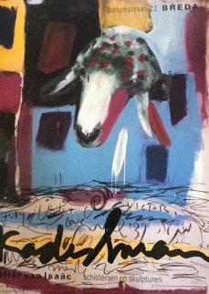 De Beyerd Breda Poster 1986 with Drawings Other - Menashe Kadishman