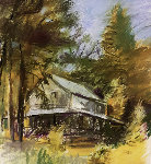 Closed Cabin in Martin's Point Pastel 1994 Works on Paper (not prints) - Wolf Kahn