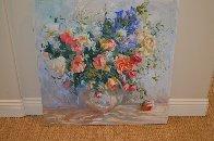 Untitled Bouquet 1990 36x36 Original Painting by S. Burrkett Kaiser - 0