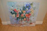 Untitled Bouquet 1990 36x36 Original Painting by S. Burrkett Kaiser - 1