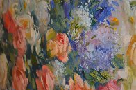 Untitled Bouquet 1990 36x36 Original Painting by S. Burrkett Kaiser - 2