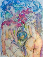 Untitled Watercolor 1989 25x30 Watercolor by Vyacheslav Kalinin - 0