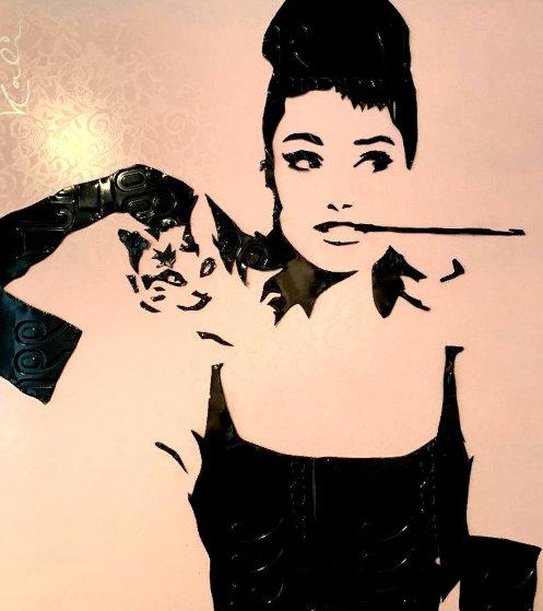 Audrey Hepburn 2004 33x36 Sculpture by Michael Kalish