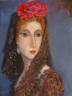 Julie 2017 25x20 Original Painting - Alexander Kanchik