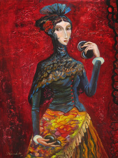 Flamenco  2017 24x20 Original Painting by Alexander Kanchik