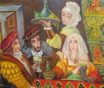 Royal Feast 2017 19x20 Original Painting - Alexander Kanchik